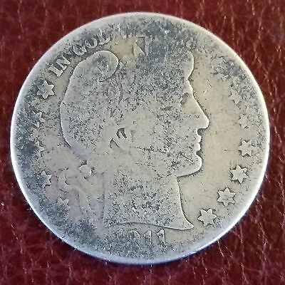 1911-S Barber Half Dollar 90% Silver Bullion Coin Semi-Key date