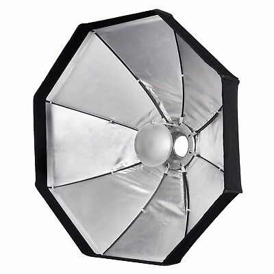 "PIXAPRO 47""/120cm Collapsible Silver Beauty Dish/Softbox Kit (2 in 1) S-Type Fit"
