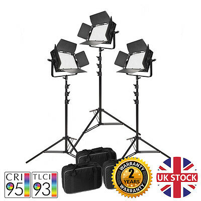 VNIX1000S LED Video Lights Kit Continuous Lighting CRI>90 Green screen 5500K