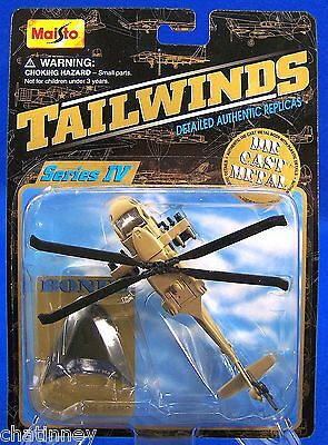 UH-60A Desert Hawk 2001 Maisto Tailwinds Military US Army Helicopter Die Cast