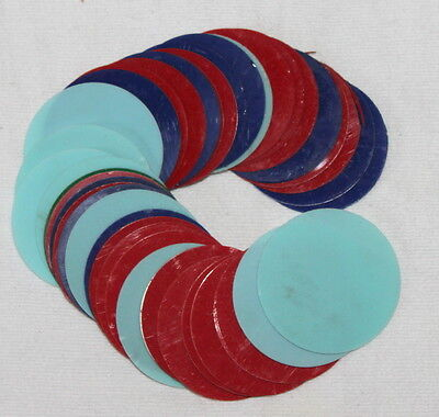 Lot of 41 Vintage Shuffleboard Puck Inserts Plastic Game Arcade Part Color Multi