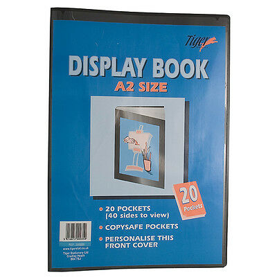 A2 Large Display Book 20 Clear Pocket Presentation Folder - 40 Pages To View