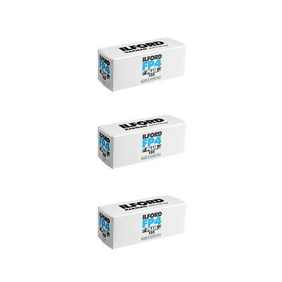 3 Rolls Ilford FP4 Plus Black and White Film, 120 Size ISO 125 #1678169