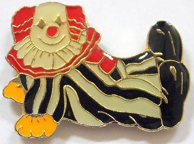 Clown Pin Pose w Stripes Lapel Hat Birthday Party Circus Tie Tac Carnival Bozo