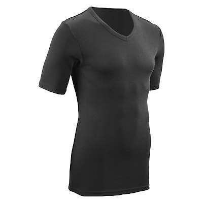 Kathmandu Polypro Unisex Thermal Short Sleeve V Neck Base Layer Top v2 Black