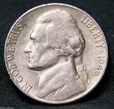 1946 S Jefferson Nickel, Circulated, Low Mintage of 13.5 Mil, Scarce, Free Ship