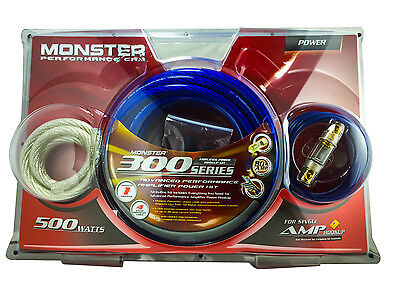 Monster Cable 300 Advanced Performance Amp Power Kit 500 watts - 80 Amp 4 Gauge