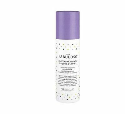 Evo Fabuloso Platinum Blonde a colour enhancing conditioner 250mL 2016 Packaging
