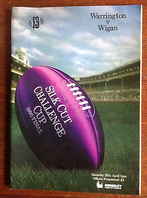 Warrington v Wigan 1990 Rugby League Challenge Cup Final Programme