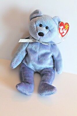 Ty Beanie Baby Clubby II Purple Bear 1999 Retired Mint with Tag New