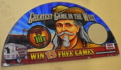 """Spielo Slot Machine Glass"""" Greatest Game In The West"""""""