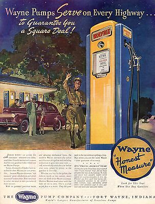 1940 Wayne Gas Pump ad - Fort Wayne Indiana