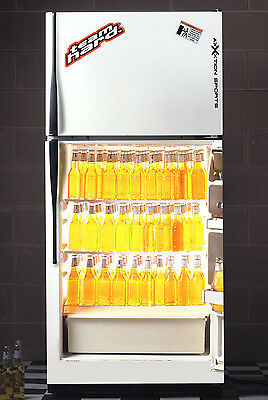 Beer Fridge Wrap by Team Hard Fully Stocked Mancave Refrigerator Vinyl Graphic