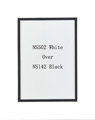 Pack of 20 11x14 White/Black Picture Double Mat for 8x10 Photo + Backing + Bags