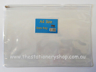 Clear PVC Zippy Bag-A4 Pack 24-SPECIAL 15% OFF