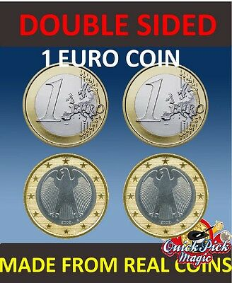 Double Sided 1 Euro Coin [1 Euro] / Same Side Euro Coin / Euro Coin Magic