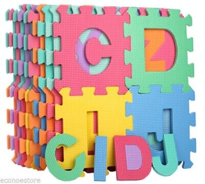 26pc Learning Alphabet Letter Puzzle Foam ABC Floor Mat Baby Safety Play Mats