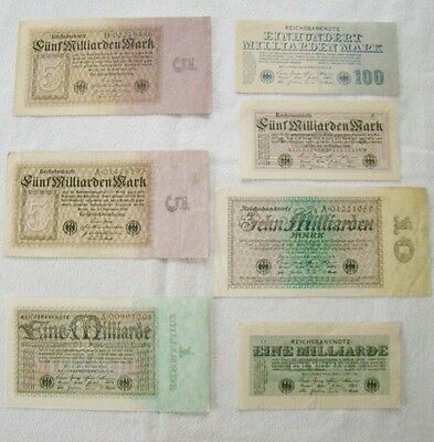 12 Scheine Inflation - interessantes Lot - 2015