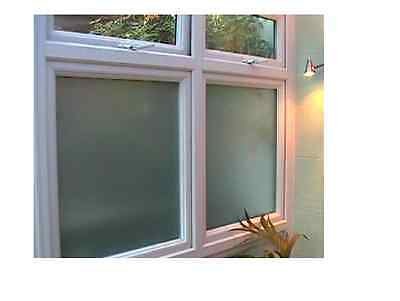 White Frosted Window Film Frost Etched Glass Sticky Back Plastic 76cm x 2m