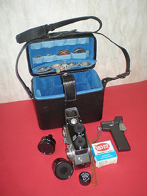 Quarz-2M, 8mm Russian Movie Camera by KMZ /1966-1973 years/ - the complete kit