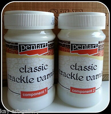 CLASSIC CRACKLE VARNISH - 1 / 2  Components 100 ml FOR DECOUPAGE AND CRAFT