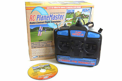 RC Plane Master Flight Simulator with Mode 1 Transmitter