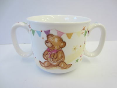 Childrens twin handled cup. Birth / Christening gift