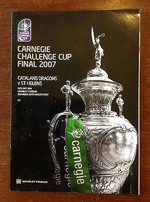 Catalans Dragons v St Helens 2007 Rugby League Challenge Cup Final Programme