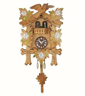 NEW Black Forest Clock  turning dancers  incl. batterie