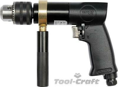 """Yato professional reversible air drill, 1/4"""" inlet,  keyed chuck (YT-09702)"""