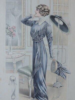 LA FEMME CHIC a PARIS SUPPLEMENT ALTE MODE KLEID HUT CA. 1912