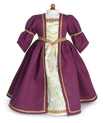 "Doll Clothes AG 18"" Dress Renaissance Purple Carpatina Fits American Girl Dolls"