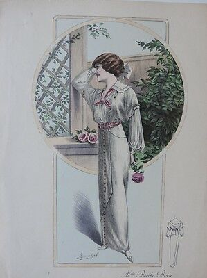 LA FEMME CHIC a PARIS SUPPLEMENT CREATION REDFERN ALTE MODE KLEID HUT CA. 1912