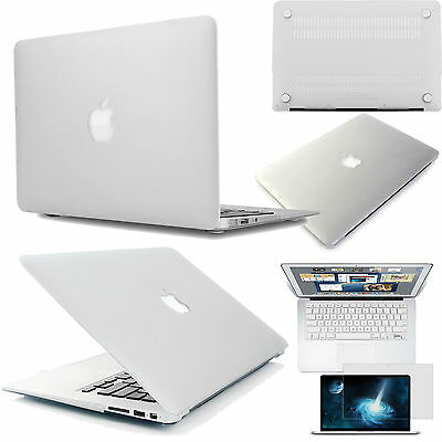 Crystal Clear Rubberized Hard case Cut-out top cover Acce Fr New Macbook Air Pro