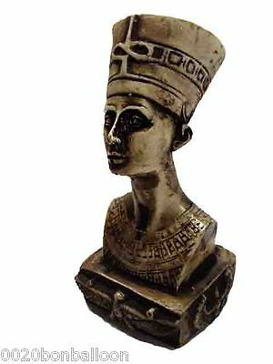 "Egyptian Queen Nefertiti  Pharaoh Figurine Statue Ancient Sculpture  4.6""  (201)"