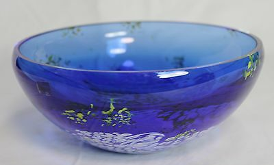 Gorgeous Art Glass by Caithness Scotland blue bowl