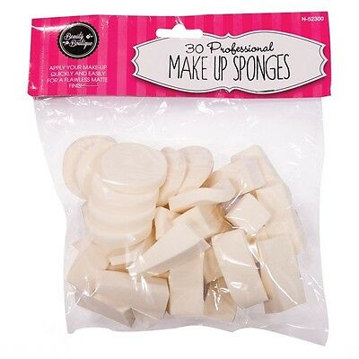 Make Up Sponges Blender Wedges Foundation Cosmetic Applicator Brush 30 Pieces