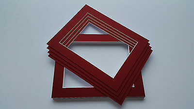 Crimson red picture photo frame mounts, great choice in sizes and packs FREE P&P