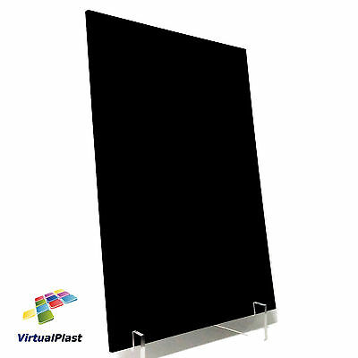 Black Gloss Acrylic Plexiglass Perspex 3mm Thick 210mm x 300mm A4 Sheet