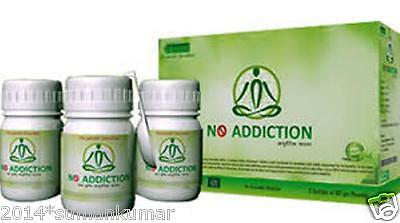 New Herbal Ayurvedic No Addiction Powder Alcohol Tabacoo Smoking Drugs Quit