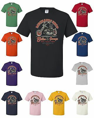 Mechanic Shop Bobber Garage T-Shirt Biker Rider Motorcycle Ride Or Die Bike Week
