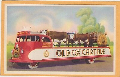 Advertising Postcard - Old Ox Cart Ale Standard Brewing Co Rochester NY