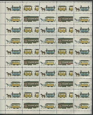 "#2062b ""STREETCARS"" SHEET/50 BLACK (ENGR) OMITTED MAJOR ERROR WL8486"