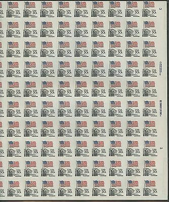 #1894a 20¢ FLAG FULL SHEET OF 100 IMPERF MAJOR ERROR CV $3,000++ WL8489