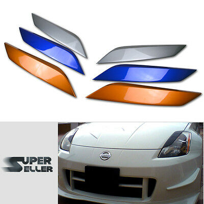 PAINTED For 350Z Z33 FAIRLADY Z COUPE HEDALIDS EYEBROWS EYELIDS 03-08