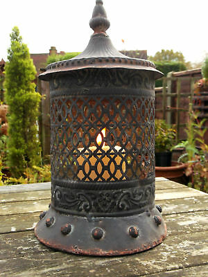 Antique Vintage Style Moroccan Large Garden Lantern Candle Holder Tea Light NEW