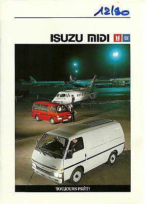Catalogue Publicitaire Isuzu Midi - 1990