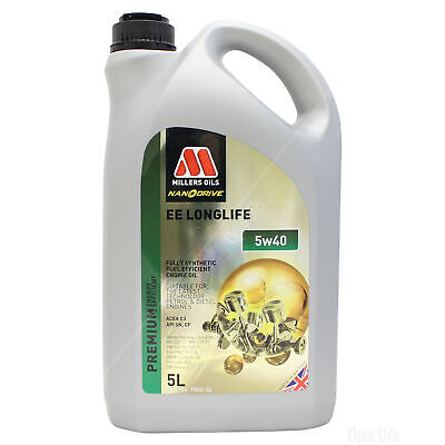 Millers Oils NANODRIVE EE LongLife 5w-40 Fully-Syn Oil - 5 Litres