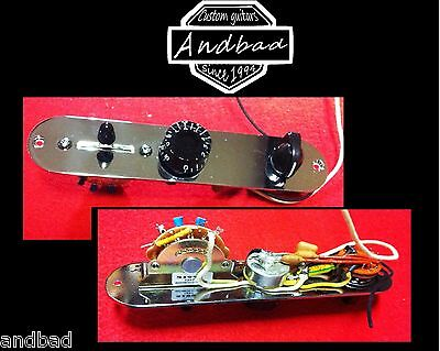 Telecaster Control Plate Wit 3 Way Varitone, Switch Fender, Pots Cts