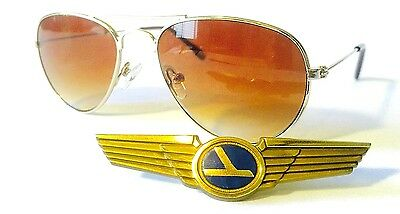 Baby Toddler Boys Girls Top Gun Gold Aviator Sunglasses Ages 0 - 3 Years A2